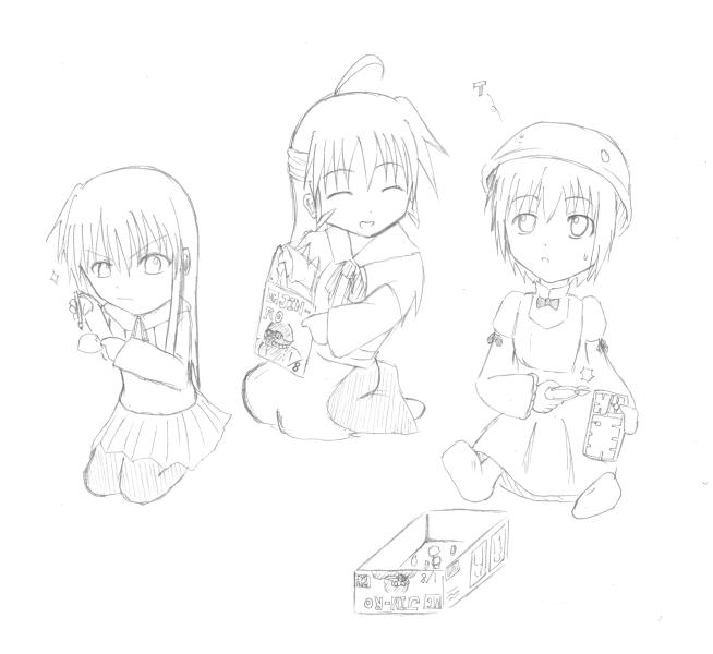 何だか面白そうな模型ですね。三人の表情が良いですね。栄子ののんびりした表情も良いです。