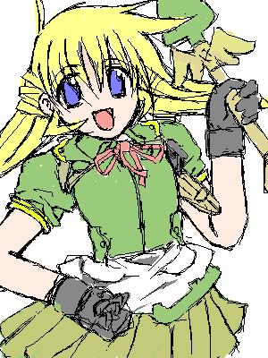 魔法少女…!スコップ柄にご注目下さい。 服は本当に何でも似合う気がします。